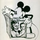 Illustration of Elsa Brandstrom while Mickey Mouse holding the magazine. - 8x10