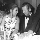 Peter Townsend listening to Maria Callas. - 8x10 photo