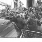 John F. Kennedy surrounded by people. - 8x10 photo