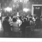 Jacqueline Kennedy Onassis dining with her friends. - 8x10 photo