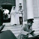 Hussein bin Talal stepping down with his wife.  - 8x10 photo