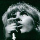 Close up of Sylvie Vartan singing. - 8x10 photo