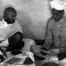 Mahatma Gandhi and Radhakrishnan, President of India. - 8x10 photo