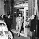 Jaime de Mora y Aragón coming out of theater. - 8x10 photo
