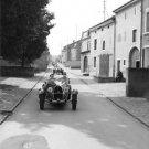 Bugatti Type-43 parked on street. - 8x10 photo