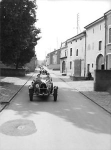 Bugatti Type-43 parked on street. - 8x10 photo
