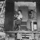 World War II. Press wireless in Normandy - 8x10 photo