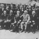 Winston Churchill in a group photograph.  - 8x10 photo