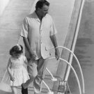 Richard Burton and little girl. - 8x10 photo