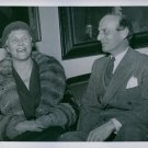 1945Elsa Brändström with her brother major Per Brändström. - 8x10 photo