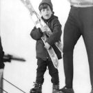 John F. Kennedy, Jr. in winter. - 8x10 photo
