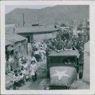 Swedish redcross ambulance arrrives in Korea in 1950. - 8x10 photo