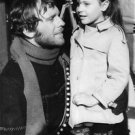 Jean Louis Trintignant talking to his daughter on the film set. - 8x10 photo