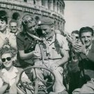 Fifth Army: Italy Allies enter Rome, British soldier receives a great welcome fr
