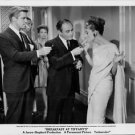 "Audrey Hepburn smoking with George Peppard and Martin Balsam in ""Breakfast At Ti"