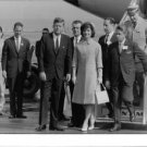 Jacqueline Kennedy and her husband John F. Kennedy with people. - 8x10 photo