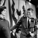 John F. Kennedy with his wife Jacqueline Kennedy. - 8x10 photo
