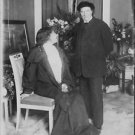 Sarah Bernhardt looking at the man, standing beside her. - 8x10 photo
