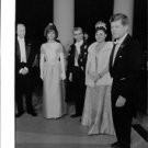 John F. Kennedy and Jacqueline Kennedy with people at an event. - 8x10 photo