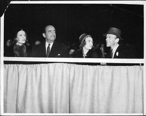 Fred Astaire, his wife, and DougFairbanks.sr. and his wife. - 8x10 photo
