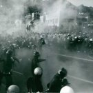Tear gas being used on protesters during demonstration in Japan.  - 8x10 photo