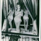 Brigitte Bardot wax doll in the bottom half of her white bikni at Madame Tussaud