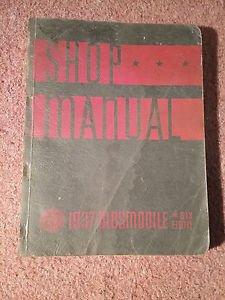1937 OLDSMOBILE SHOP MANUAL  / SERVICE BOOK /  ORIGINAL!!