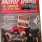 Vintage Motor Trend Magazine, April 60 Karti SKU 07071641