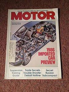 Vintage Motor Magazine, Jan-1986, Mercedes 300E SKU 07071617