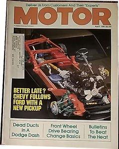 Vintage Motor Magazine, April 1987, Front Wheel Drive Bearings, sku 07071616