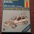 Haynes Hyundai Excel 1986-1994 Repair Manual 07071690