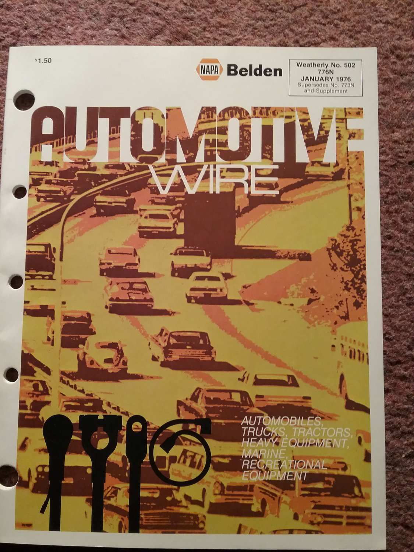 1976 Napa Belden Automotive Wire Catalog, 776N 070716101