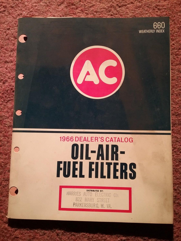 Vintage 1966 AC Oil Air Filter Dealer's Catalog #660 070716112
