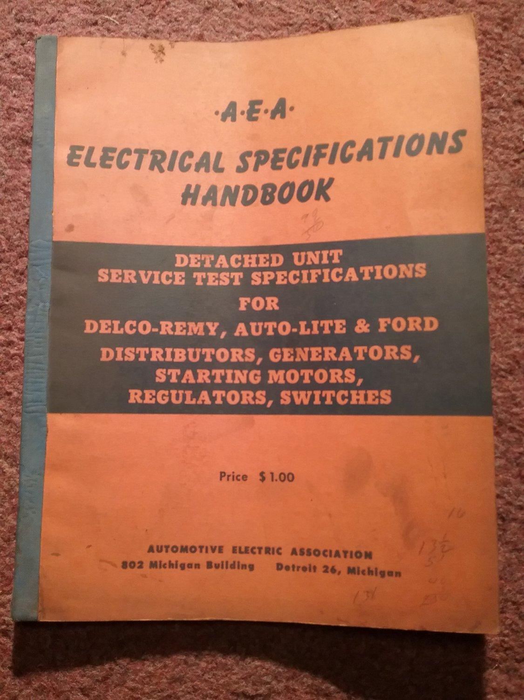 Vintage 1956 A EA Electrical Specifications Handbook 070716127