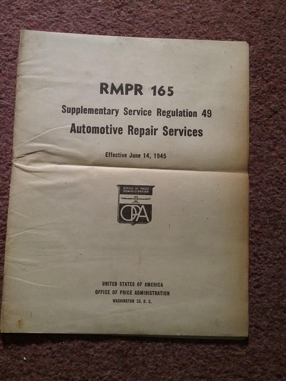 Vintage 1945 RMPR 165 Supple Service 49 Automative Repair Serv 070716128