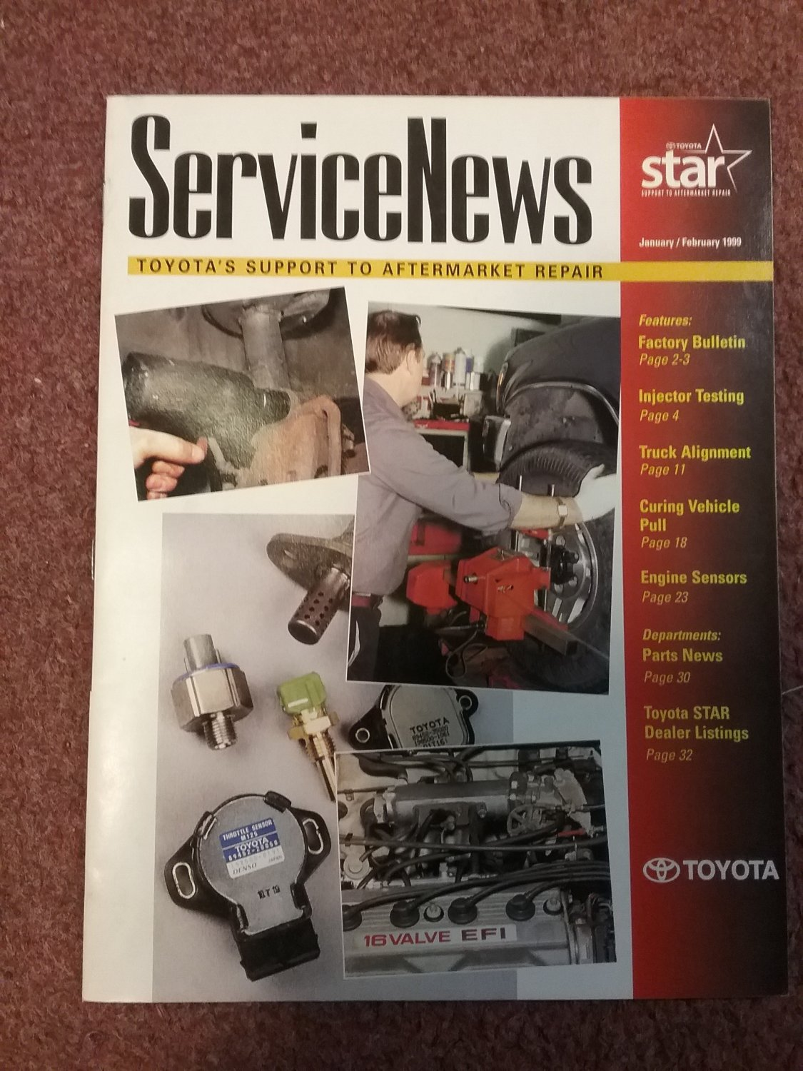 Toyota Service News  Magazine Jan/Feb 1999 Injector testing 070716183