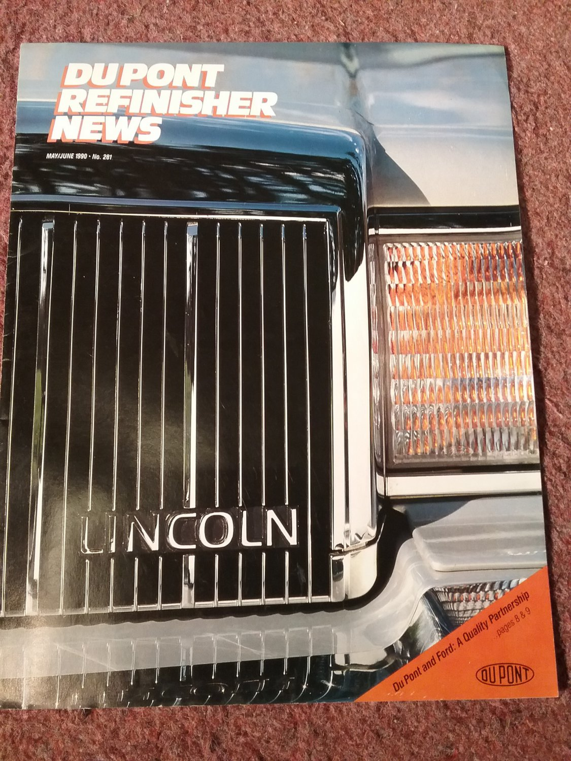 Du pont Refinisher News, May/June 1990 NO 281 Du Pont and Ford 070716188
