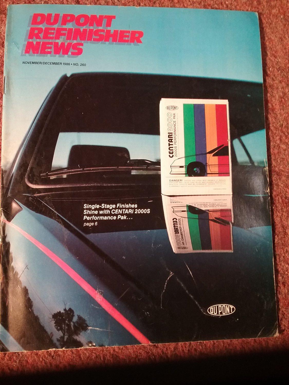 Du pont Refinisher News, November/December  1986  NO 260 Single Stage Shine 070716208