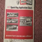 Vintage 1967 Champion Spark Plug Chart  070716228