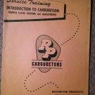VintageService Training RP Carburetors 1159 Models B & BC 70716231