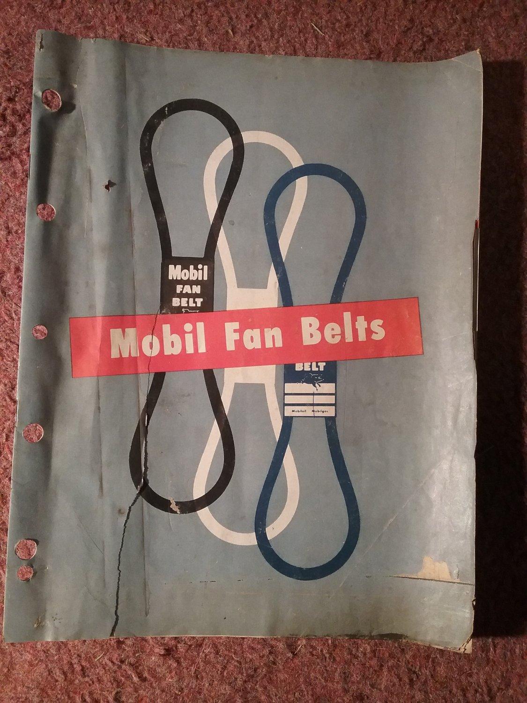 Vintage 1949 Mobil Fan Belt Catalog 070716240