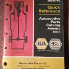 Vintage 1965 40th Anniversary Napa Quick Reference Catalog 070716286