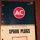Vintage 1968 AC Spark Plugs Dealer Catalog  070716283