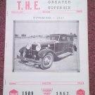 Vintage November. 1967 T.H.E. Greater Super Six Club Hudson Club 070716328