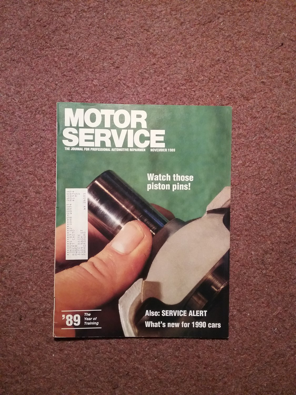 Vintage November 1989 Motor Service Magazine, 070716360