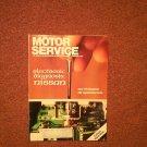 Vintage February 1992 Motor Service Magazine, Electronic Diagnosis Nissan 070716362