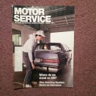 Vintage January 1990 Motor Service Magazine,  Servicing Hyundais 070716380
