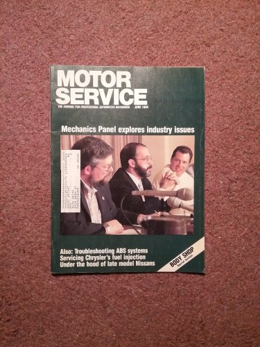 Vintage June 1988 Motor Service Magazine, Servicing Chrysler Injections 070716393