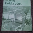 Vintage 1979 How to Build a Deck, Wolmanized WOL-W 070716405