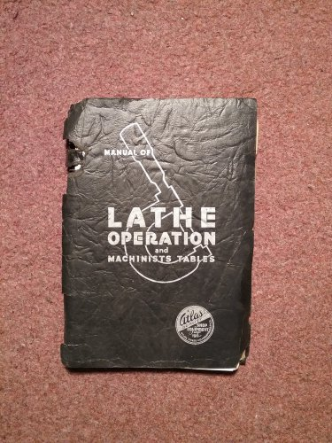 1937 Manual of Lathe Operation and Machinists Tables 070716421